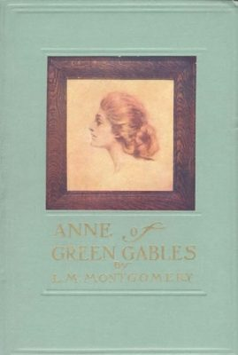 The olf fashioned cover has embossed gold lettering and shows a profile of Anne Shirley with her abundant red hair