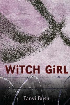 The cover of Witchgirl shows a flying shape disolving into the background
