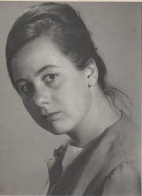 Black and White photograph of Ruth Hartley aged 18