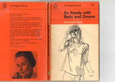 Cover shows a line pen and ink drwing of a young girl with her hands on the dark glasses that his her blind eyes