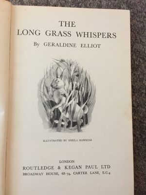 The front page of the book shows a hare among some tall grasses with a cheeky grin