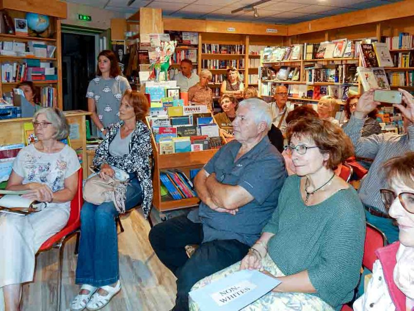 Audience at Ruth Hartley's book launch in La Litote Bookshop